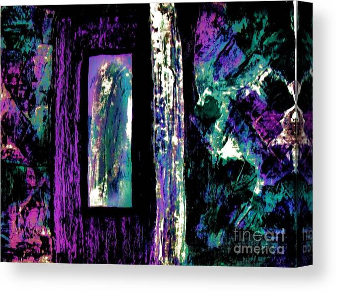 Painting Canvas Print featuring the painting Abstract Purple Door by Marsha Heiken