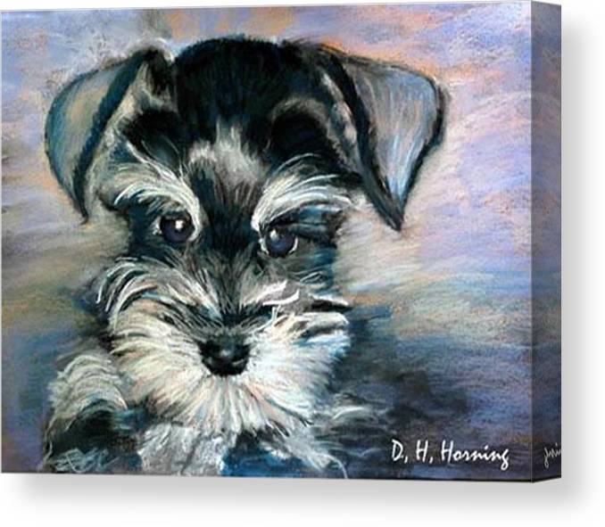 Portrait Canvas Print featuring the painting Annabelle by David Horning
