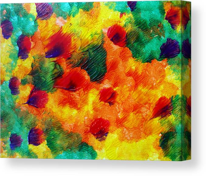 Yellow Canvas Print featuring the painting Art Leigh Odom 0003 by Leigh Odom
