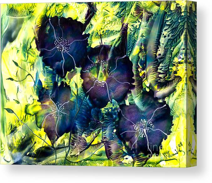 Nature Canvas Print featuring the painting Blues Are Born by Heather Hennick