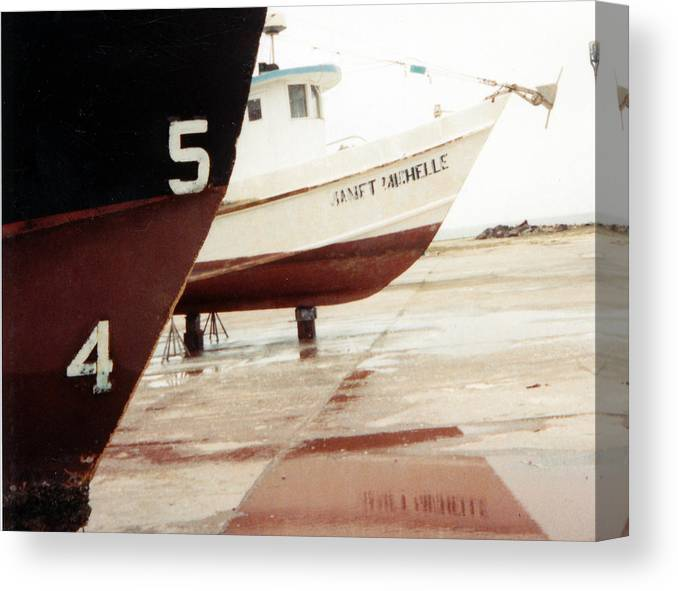 Boat Reflection Canvas Print featuring the photograph Boat Reflection 2 by Cindy New