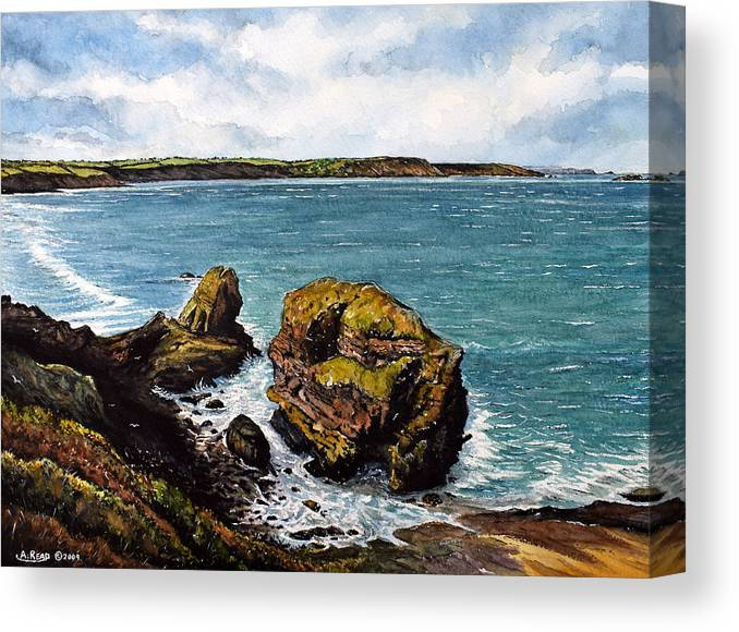 Broad Haven Canvas Print featuring the painting Broad Haven by Andrew Read