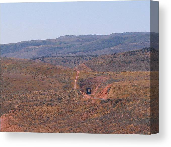 Pat Turner Canvas Print featuring the photograph Distant Tunnel by Pat Turner