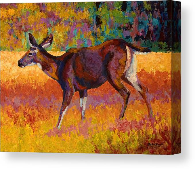 Deer Canvas Print featuring the painting Doe IIi by Marion Rose