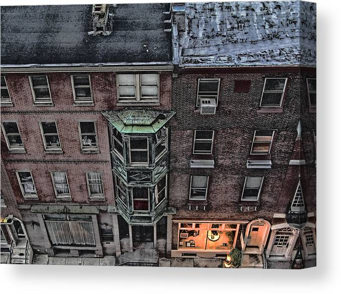 Downtown Canvas Print featuring the photograph Downtown Philadelphia Building by Anthony Rapp