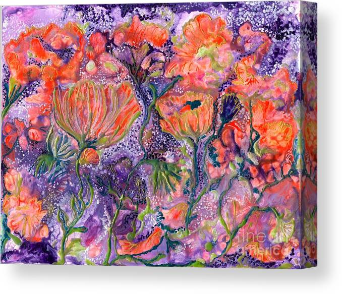 Healing Canvas Print featuring the painting Ease For De De by Heather Hennick
