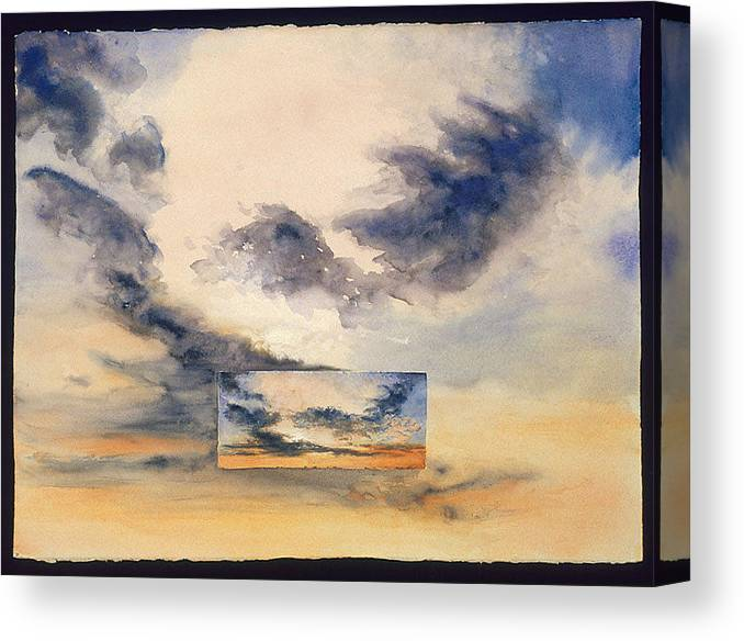 Sunset Canvas Print featuring the painting Evanston Sunset by Nancy Ethiel