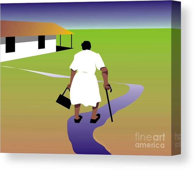 Women Canvas Print featuring the digital art Homecoming by Walter Neal