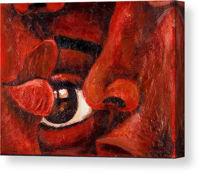 Maliksart Canvas Print featuring the painting Hue-man Series by Malik Seneferu