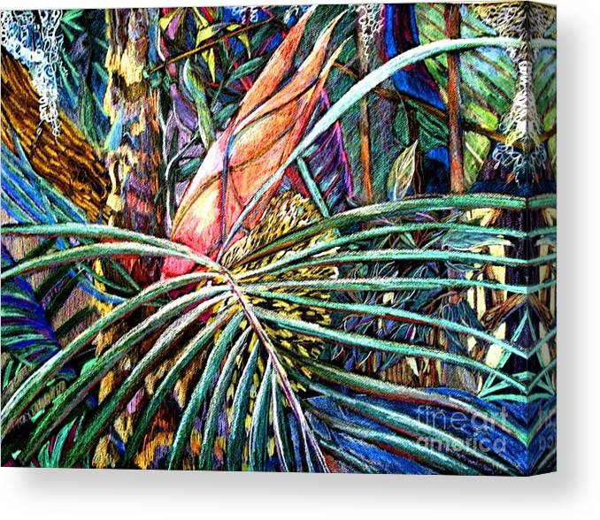 Palm Canvas Print featuring the painting Jungle Fever by Mindy Newman