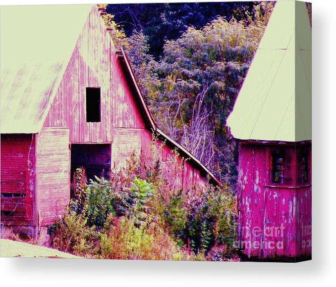 Barns Canvas Print featuring the photograph Kansas Country by Christine Belt