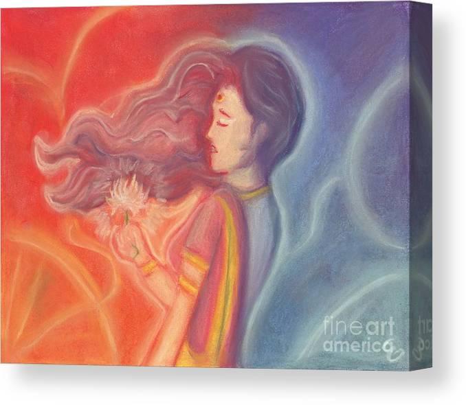 Goddess Canvas Print featuring the painting Lakshmi by Cassandra Geernaert