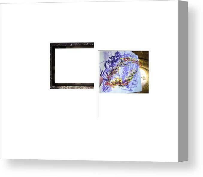 Sculptural Drawing  Abstract Digital Space Canvas Print featuring the digital art Magnet by Edwin VanGorder