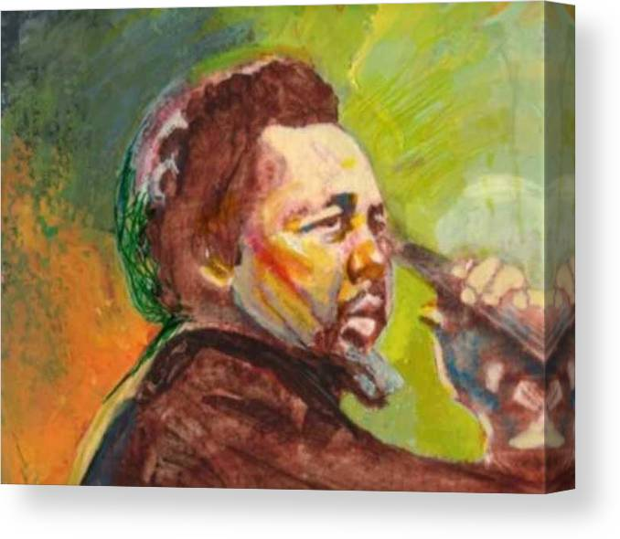 Charles Mingus Canvas Print featuring the painting Mingus by Michael Facey