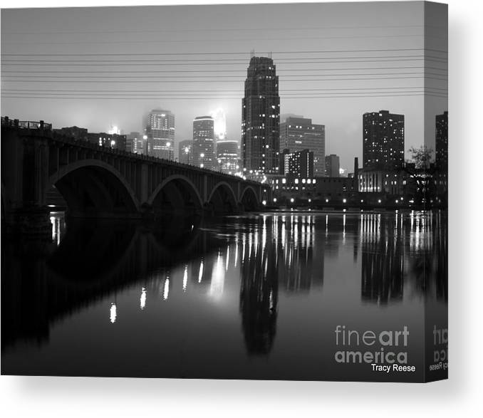 Minneapolis Canvas Print featuring the photograph Mississippi Glass by Tracy Reese