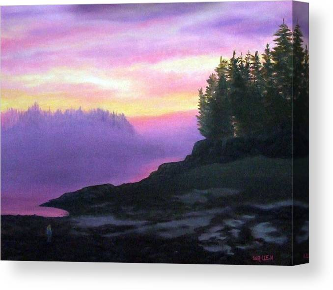 Sunset Canvas Print featuring the painting Mystical Sunset by Sharon E Allen