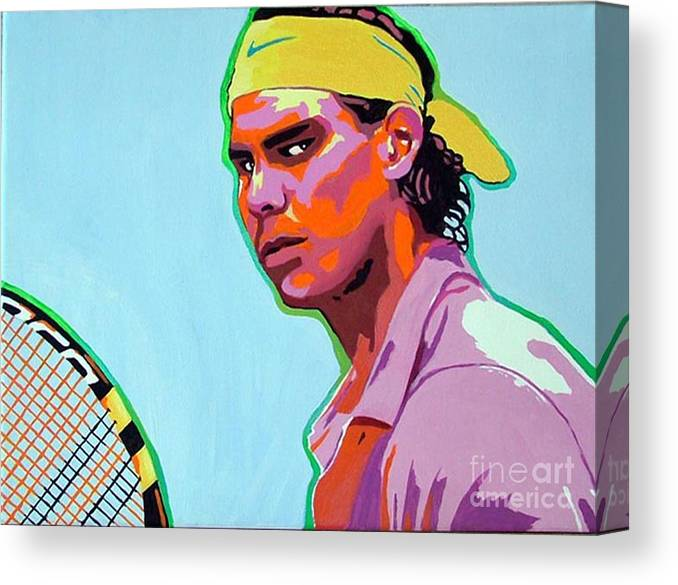 Tennis Canvas Print featuring the painting Nadal by Gail Zavala