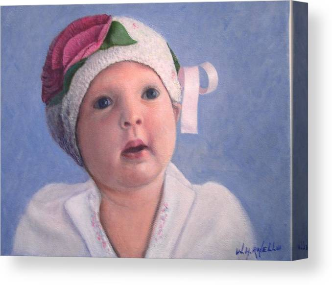 Portrait Canvas Print featuring the painting Nora Rose by William H RaVell III
