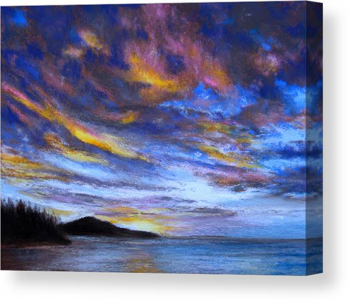 Ocean Canvas Print featuring the pastel Ocean Sky by Susan Jenkins