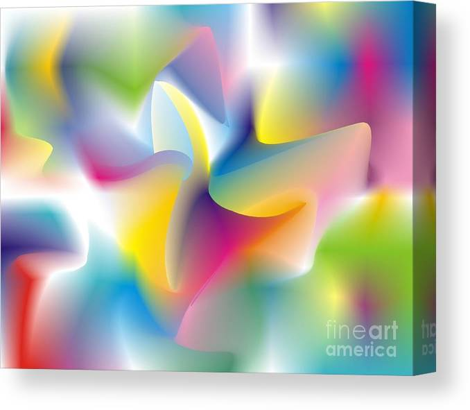 Abstract Canvas Print featuring the digital art Quantum Landscape 4 by Walter Oliver Neal