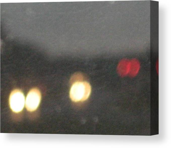 Lights Canvas Print featuring the photograph Rain 5 by Stephen Hawks