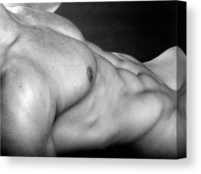 Male Nudes Canvas Print featuring the photograph Ronan Torso by Thomas Mitchell