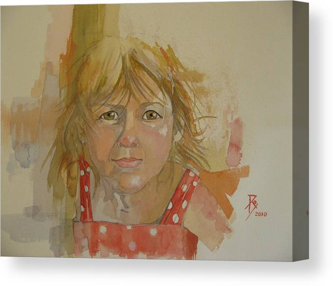 Girl. Portrait Canvas Print featuring the painting Sienna by Ray Agius