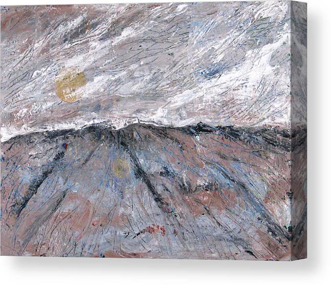 Mountains Canvas Print featuring the painting Somewhere Higher by Rollin Kocsis