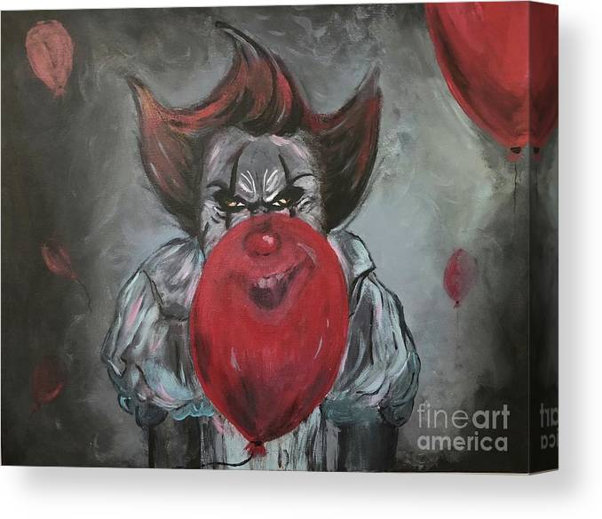 It Canvas Print featuring the painting Stephen King It by Demon Workshop
