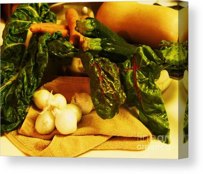 Vegetables Canvas Print featuring the photograph Still Life And Then Dinner by Jamey Balester