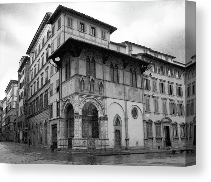 Florence Canvas Print featuring the photograph The Porch Of The Innocents by Guy Ciarcia