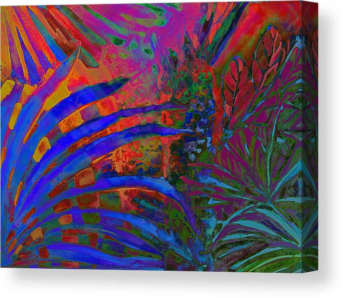 Tropical Canvas Print featuring the photograph Tropical Blues by Mindy Newman