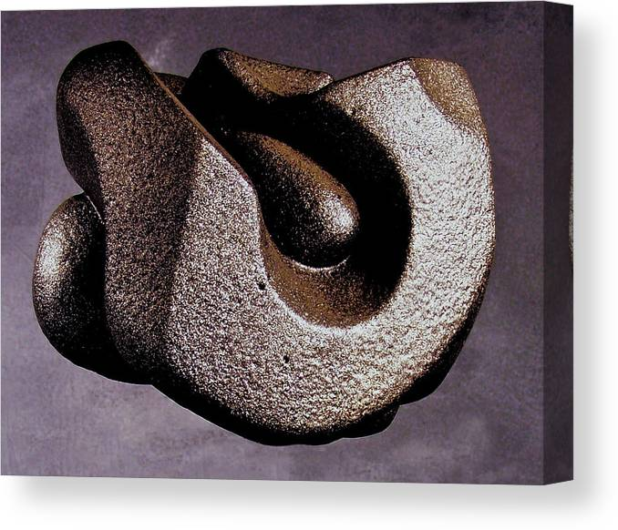 Wood Canvas Print featuring the sculpture Vulcanized Structure by Lonnie Tapia