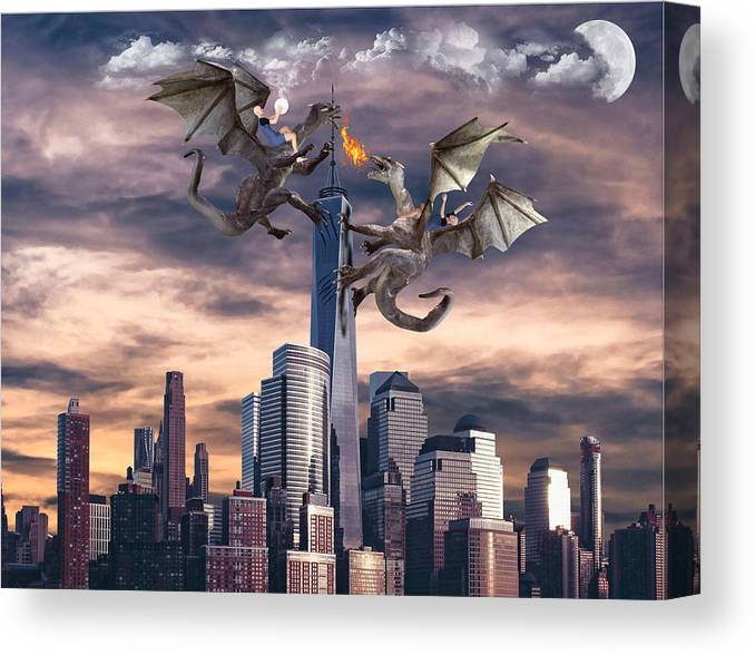 Warring States Canvas Print featuring the digital art Warring States by Barroa Artworks