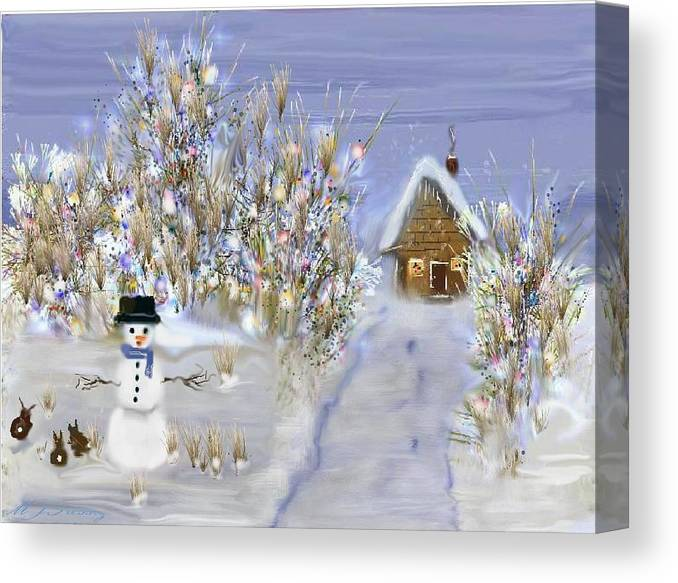 Snow Canvas Print featuring the digital art Winter Wonderland by June Pressly