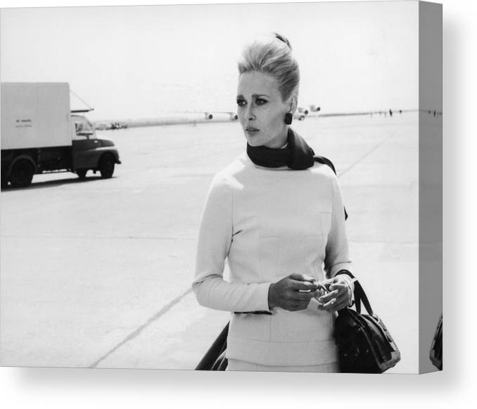 Actress Canvas Print featuring the photograph Actress Faye Dunaway In The Movie A by Keystone-france