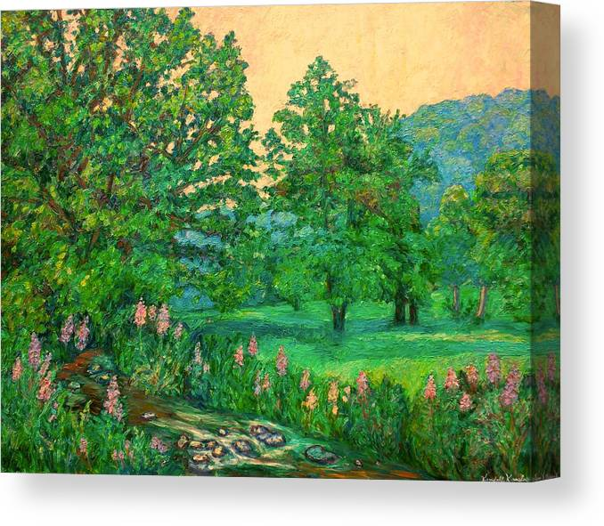 Landscape Canvas Print featuring the painting Park Road In Radford by Kendall Kessler