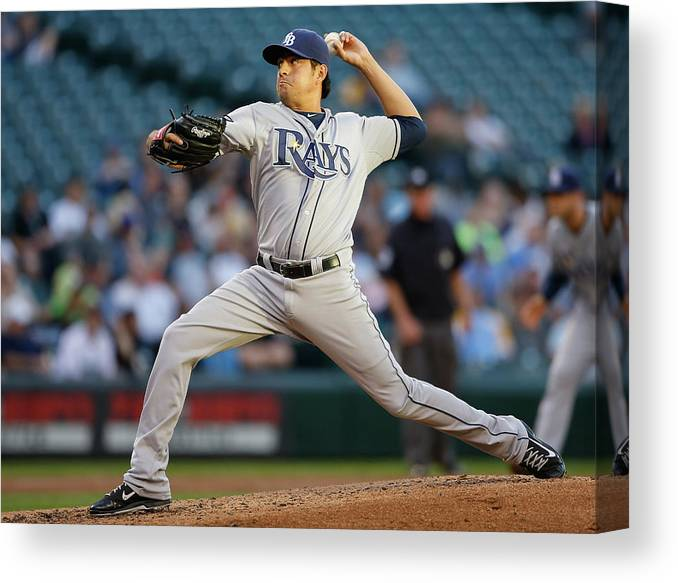 Second Inning Canvas Print featuring the photograph Cesar Ramos by Otto Greule Jr