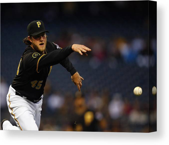 American League Baseball Canvas Print featuring the photograph Gerrit Cole by Matt Sullivan