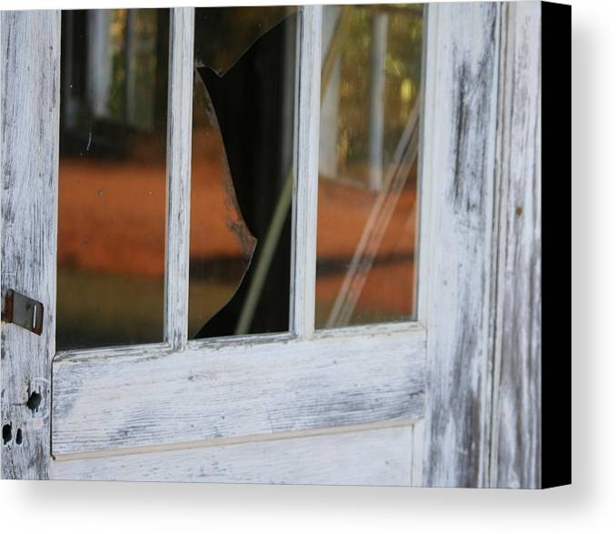 Old Canvas Print featuring the photograph Broken Door by Lisa Johnston