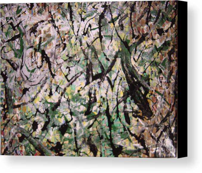 Canvas Print featuring the painting Forest by Biagio Civale