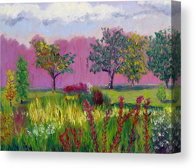 Landscape Canvas Print featuring the painting Sewp 9 24 by Stan Hamilton