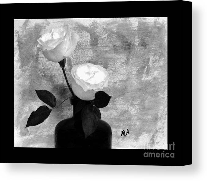 Photo Canvas Print featuring the photograph Black And White Rose by Marsha Heiken