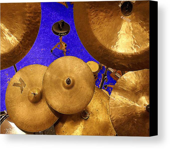 Percussion Canvas Print featuring the digital art Cymbals by Philip Dammen
