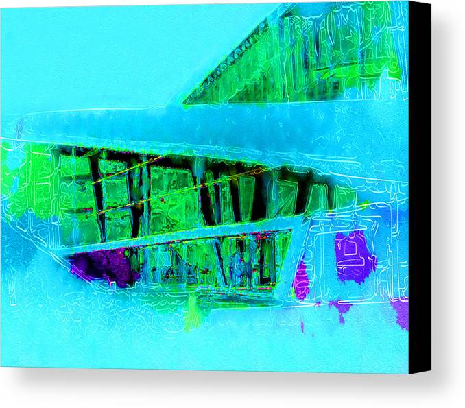 Canvas Print featuring the digital art Architecture by Philip Dammen