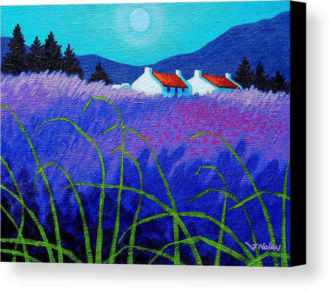 Acrylic Canvas Print featuring the painting Lavender Field by John Nolan