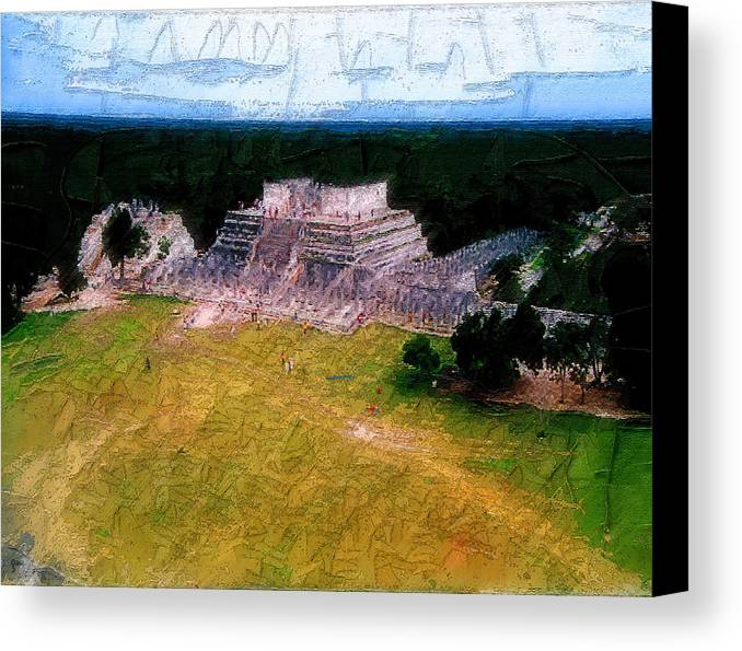 Canvas Print featuring the digital art Mexico by Philip Dammen