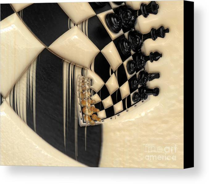 A Game Of Chess Canvas Print featuring the photograph A Game Of Chess by Liane Wright
