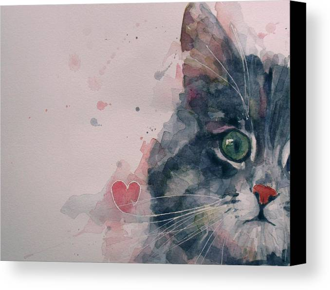 Cats Canvas Print featuring the painting And I Love Her by Paul Lovering