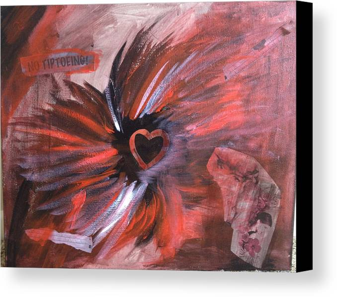 Abstract Canvas Print featuring the painting B One by Ann Lauren